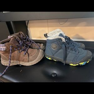 2 pairs of boy's ankle boots size 12